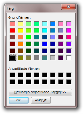 Color Dialog with custom font