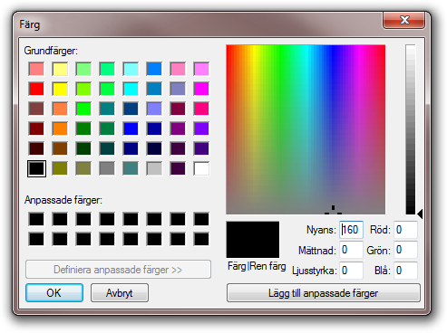 Color Dialog with default font - no issues