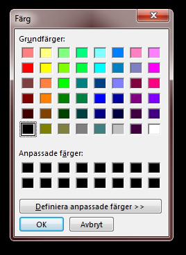 Color Dialog with Segoe UI font