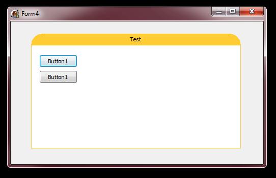 Screenshot of the custom-caption panel control